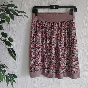 Down East basic XS floral skirt with pockets